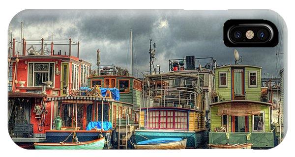 Seattle Houseboats Fine Art Photograph IPhone Case