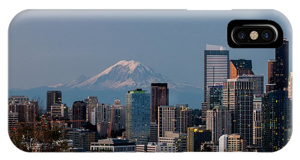 Seattle-mt. Rainier In The Morning Light .1 IPhone Case