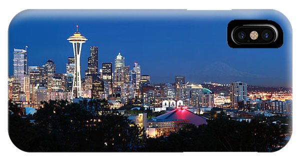 Seattle Panorama At Twilight IPhone Case
