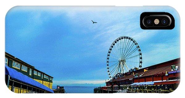 Seattle Pier 57 IPhone Case