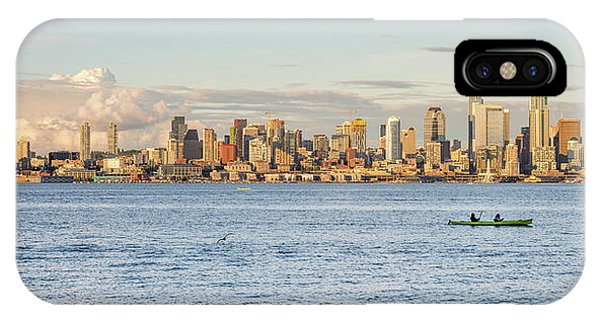 Seattle Skyline 2 IPhone Case