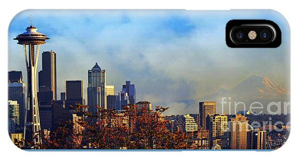 Seattle Skyline IPhone Case