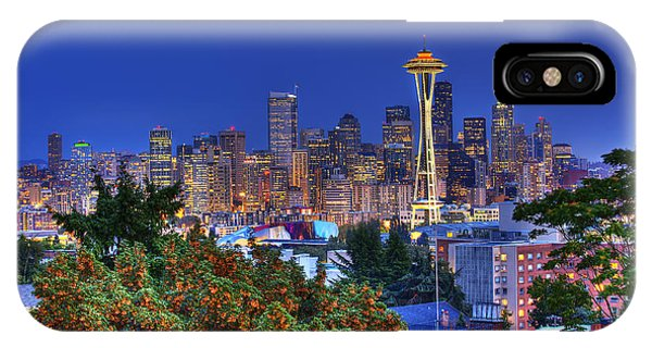 Seattle Skyline In The Fall IPhone Case