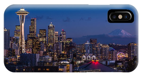 Downtown Seattle iPhone Case - Seattle Skyline by Jamie Pham