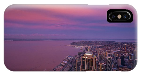 The Nature Center iPhone Case - Seattle Sunrise Skies by Mike Reid