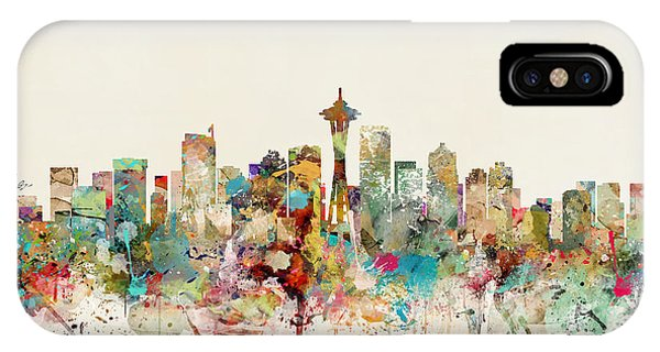 Seattle iPhone X Case - Seattle Washington by Bri Buckley