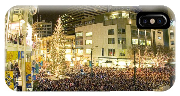 Seattle Westlake Tree Lighting IPhone Case