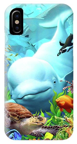 Hammerhead Shark iPhone Case - Seavilians 2 by Jerry LoFaro