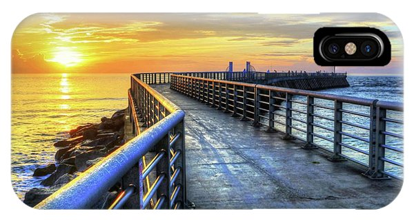 Sebastian Inlet Pier Along Melbourne Beach IPhone Case