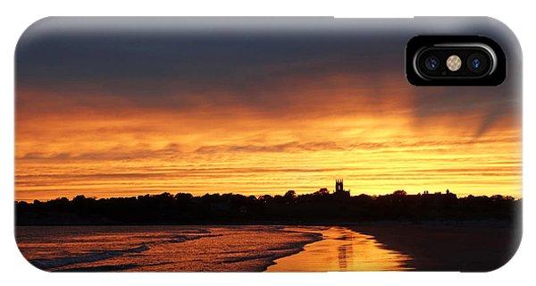 Second Beach Newport Ri Sunrays IPhone Case