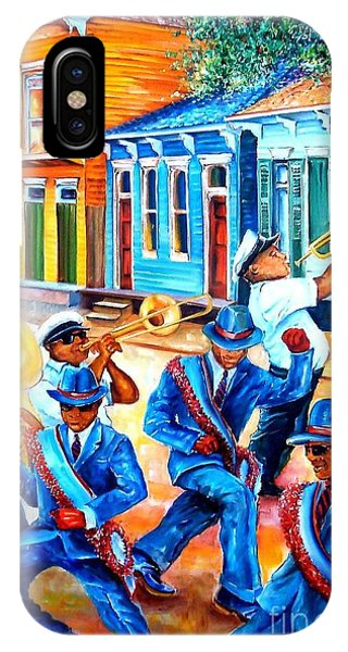 Trombone iPhone Case - Second Line In Treme by Diane Millsap