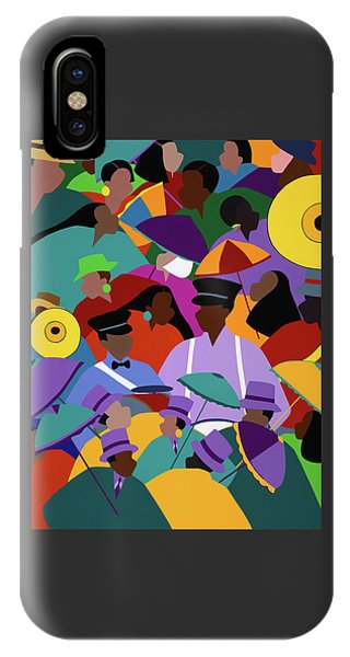 iPhone X Case - Second Line New Orleans by Synthia SAINT JAMES
