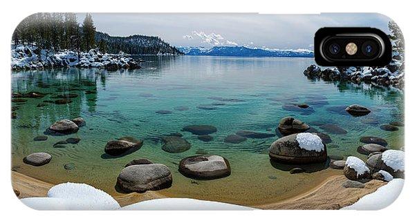 Secret Cove Winter Panorama By Brad Scott IPhone Case