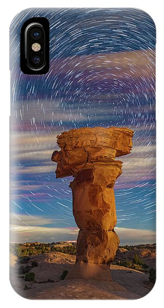 Secret Spire And Star Trails IPhone Case