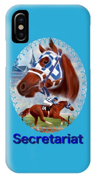 Secretariat Racehorse Portrait IPhone Case