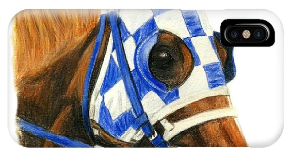 Secretariat With Blinkers IPhone Case