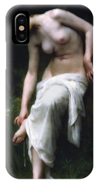 She iPhone Case - Secretly She Bathes At Night by Isabella Howard