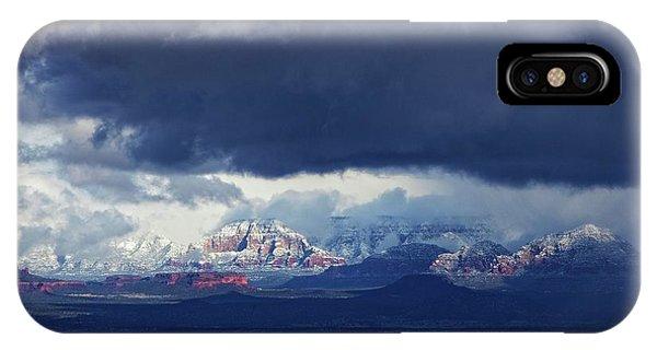Sedona Area Third Winter Storm IPhone Case
