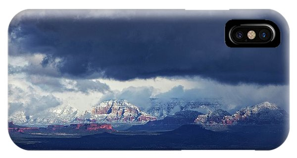 Sedona Area Third Winter Storm IPhone Case