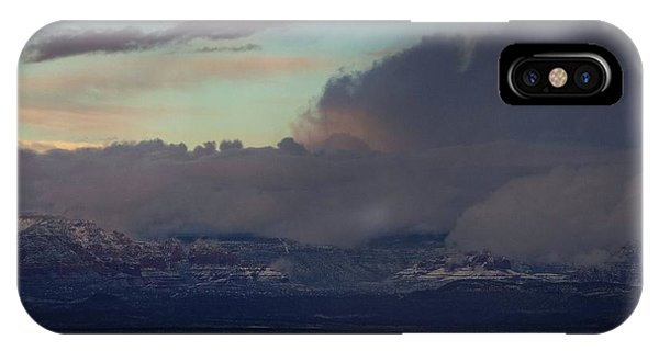 Sedona At Sunset With Red Rock Snow IPhone Case
