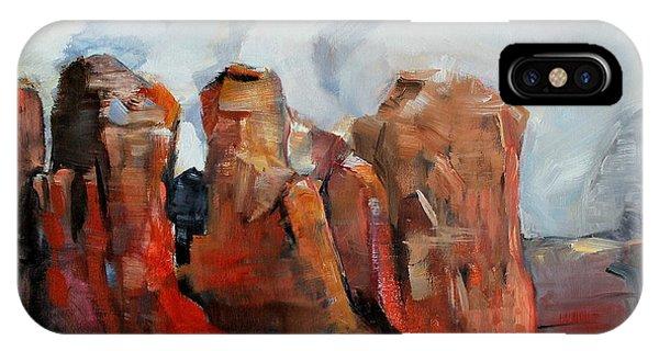 Sedona Coffee Pot Rock Painting IPhone Case