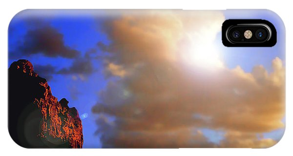 Sedona Mountain Cloud Sun IPhone Case