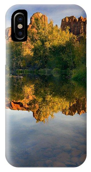 Reflection iPhone Case - Sedona Sunset by Mike  Dawson