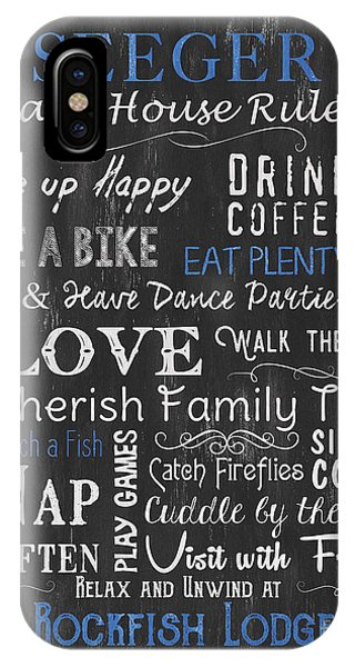 Laugh iPhone Case - Seeger Lake House Rules by Debbie DeWitt