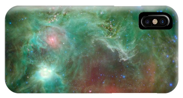Infrared Radiation iPhone Case - Seeing Beyond The 'monkey Head' by Mark Kiver