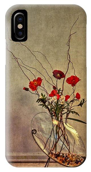 Bouquet iPhone X Case - Seeking Harmony by Evelina Kremsdorf
