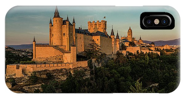 Segovia Alcazar And Cathedral Golden Hour IPhone Case