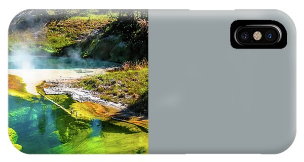 Seismograph Pool In Yellowstone IPhone Case