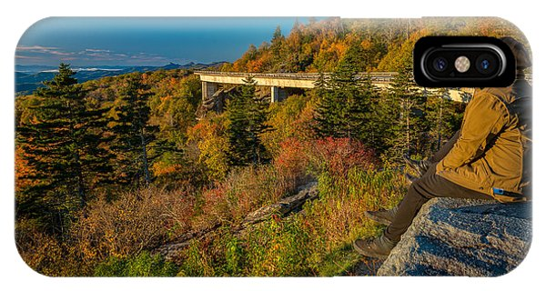 Seize The Day At Linn Cove Viaduct Autumn IPhone Case