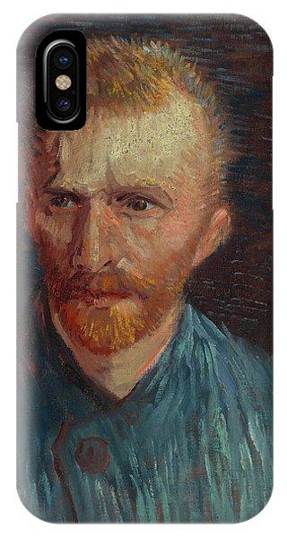 Van Gogh Museum iPhone Case - Self-portrait-1 by Vincent van Gogh