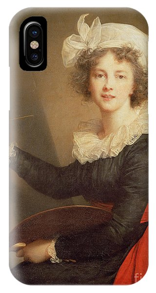 At Work iPhone Case - Self Portrait by Elisabeth Louise Vigee-Lebrun