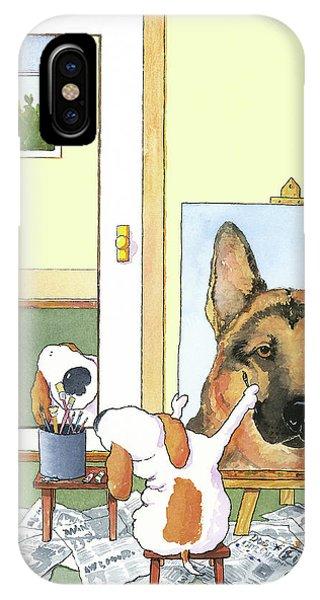 Germany iPhone Case - Self Portrait, German Shepherd by Jim Tweedy