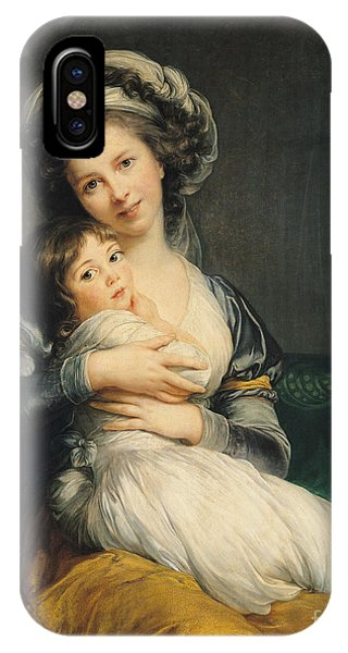 Self Portrait In A Turban With Her Child IPhone Case