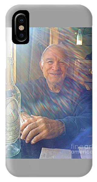 Rights Managed Images iPhone Case - Self Portrait One - Light Through The Window by Felipe Adan Lerma
