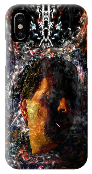 IPhone Case featuring the digital art Self Portrait With Aura by Reed Novotny