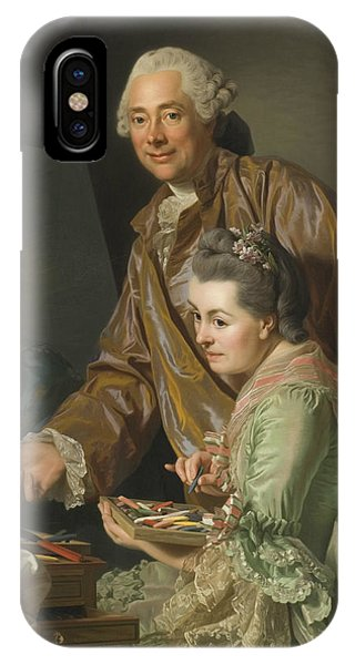 Swedish Painters iPhone Case - Self-portrait With His Wife Marie-suzanne Giroust by Alexander Roslin