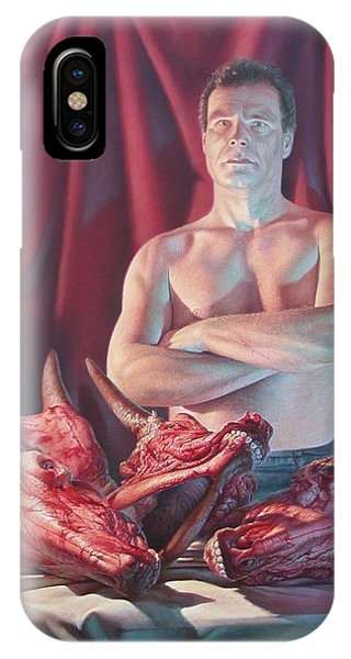 Self Portrait With Slaughtered Cow Heads IPhone Case