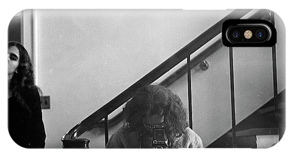 Self-portrait, With Woman, In Mirror, Cropped, 1972 IPhone Case