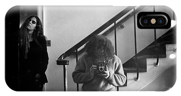 Self-portrait, With Woman, In Mirror, Full Frame, 1972 IPhone Case