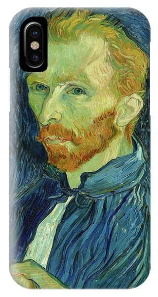 Van Gogh Museum iPhone Case - Self-portrait Vincent Van Gogh by Vincent van Gogh