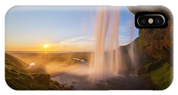 Seljalandsfoss Sunset Iceland IPhone Case