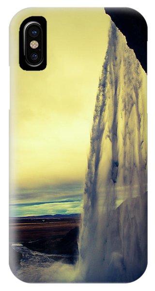 Seljalandsfoss Sunset IPhone Case
