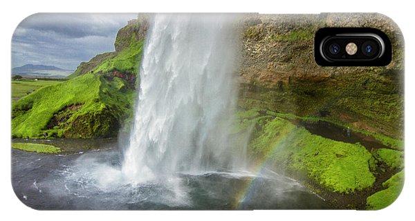 Seljalandsfoss With Rainbow, Iceland IPhone Case