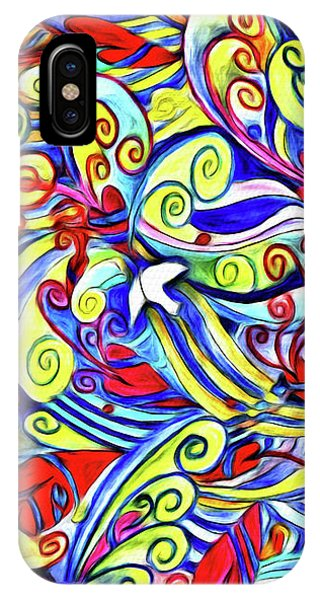 Semi Abstract Paintings Button IPhone Case