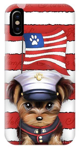 Semper Fidelis Yorkie Marine IPhone Case
