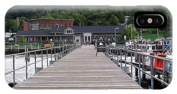 Seneca Lake Pier Watkins Glen New York IPhone Case
